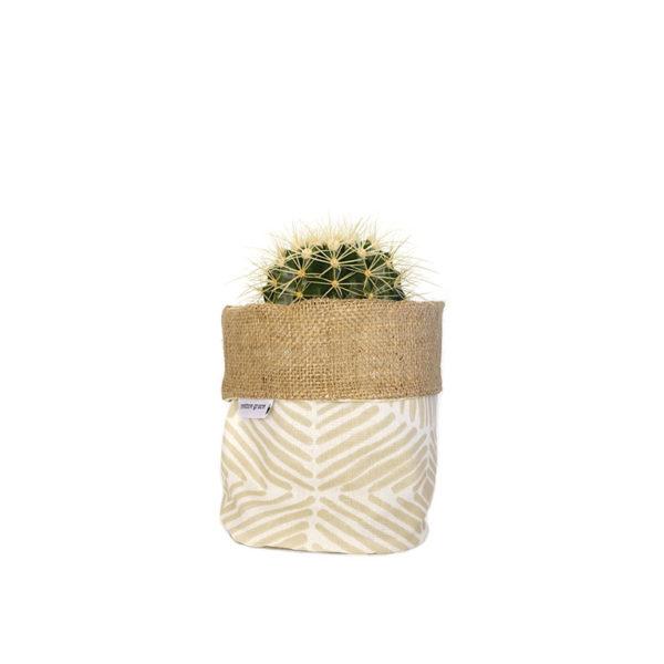 Barrel Cactus Planter Bag Hessian