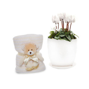 Cyclamen Baby Gift Set Cream Ceramic